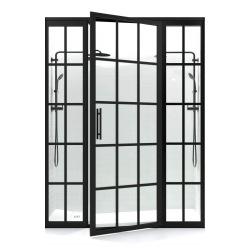 Schwarze Stahltür für...