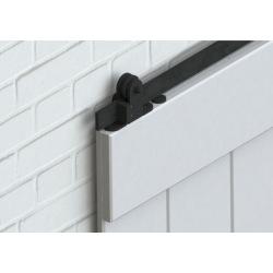 Stahlschiebesystem oben, schwarz, für eine Tür