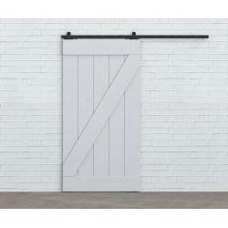 Schiebe-Schiebesystem aus Stahl 80mm , schwarz, für zwei Türflügel