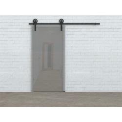 Schiebesystem für Glastür Country Glass, schwarz, für eine Tür