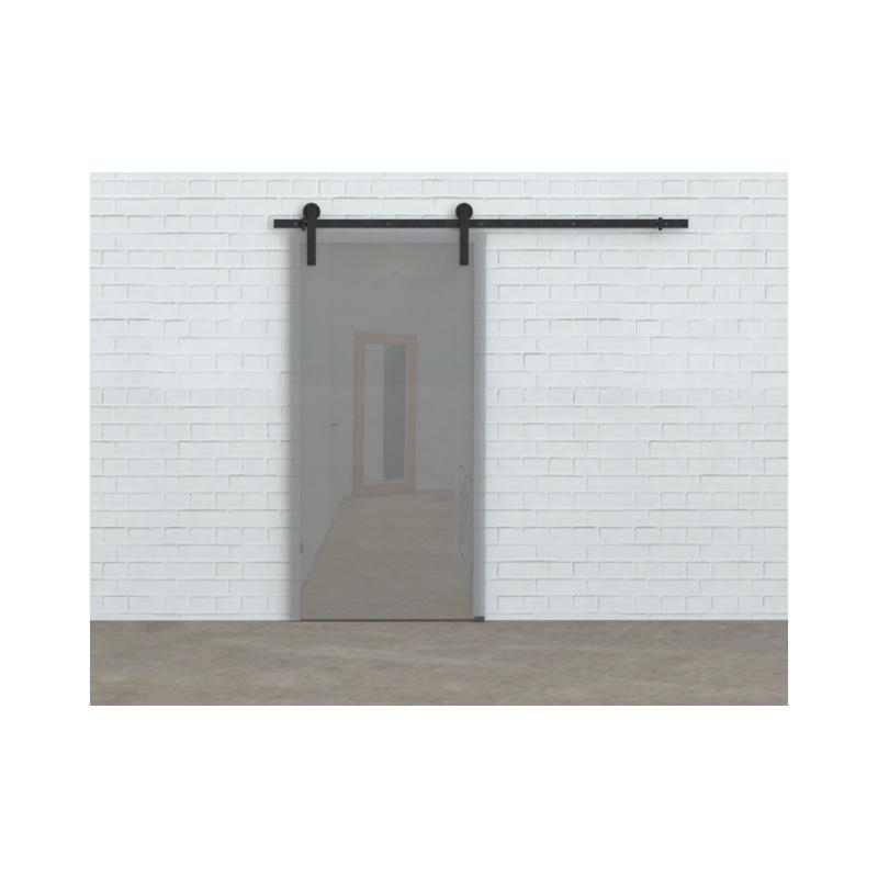 Schiebesystem für Glastür Glass 80, schwarz, für eine Tür