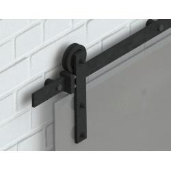 Schiebesystem für Glastür Glass 80, schwarz, für zwei Tür