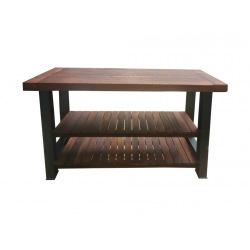 Stahlkücheninsel mit Holz Jawi