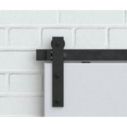 Retro Barn Schiebesystem mit Deckenhalterung - für 2 Flügel