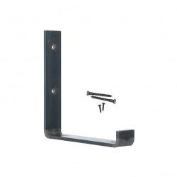 Stahlhalter für Wandregale oben 25cm